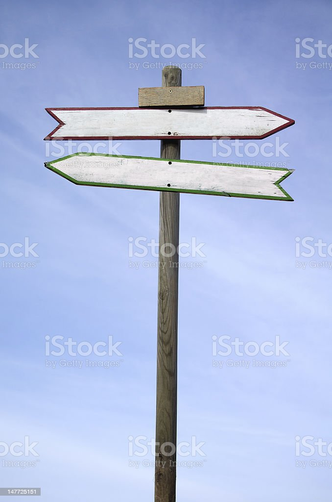 Directional signs royalty-free stock photo