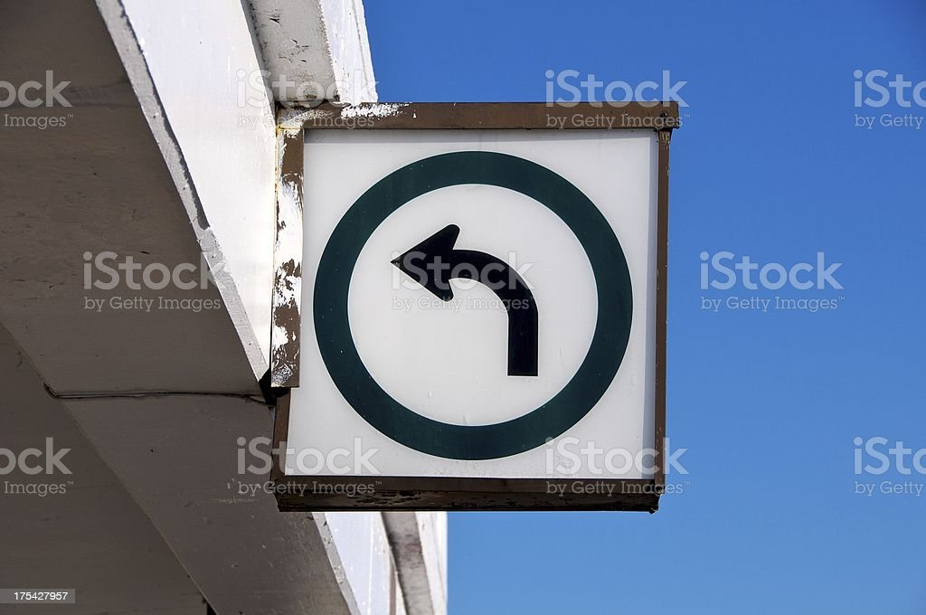 Directional Street Sign royalty-free stock photo