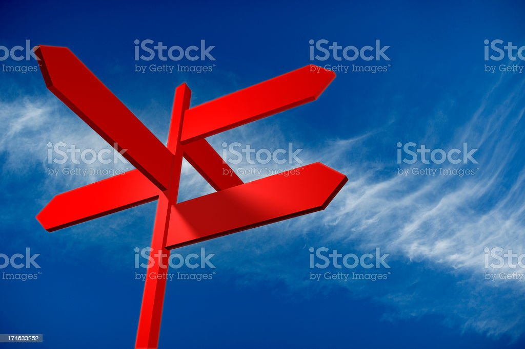 Directional with clipping (PATH) stock photo