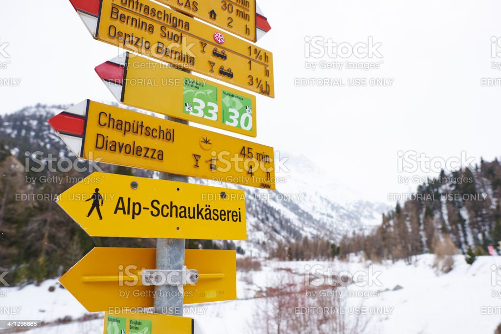 Directions Signs stock photo