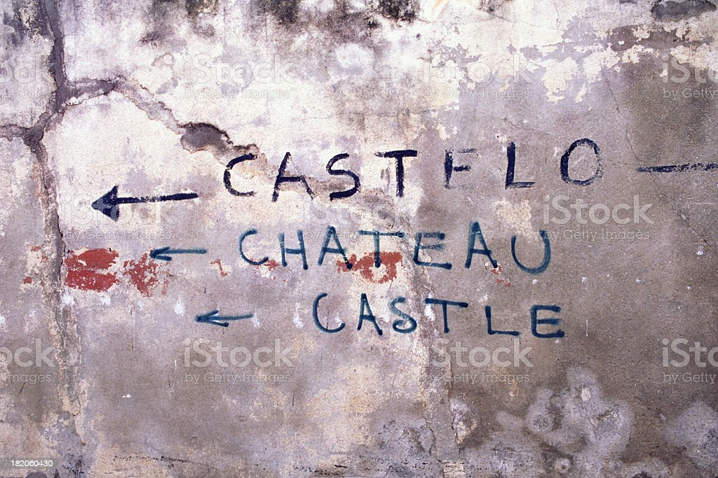 Directions to castle. royalty-free stock photo