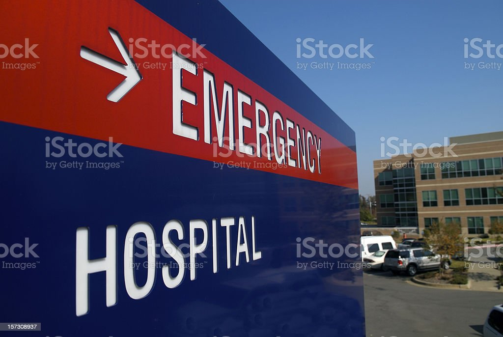 Directions to ER royalty-free stock photo