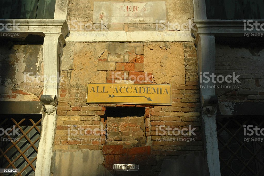 Directions, Venice, Italy. stock photo