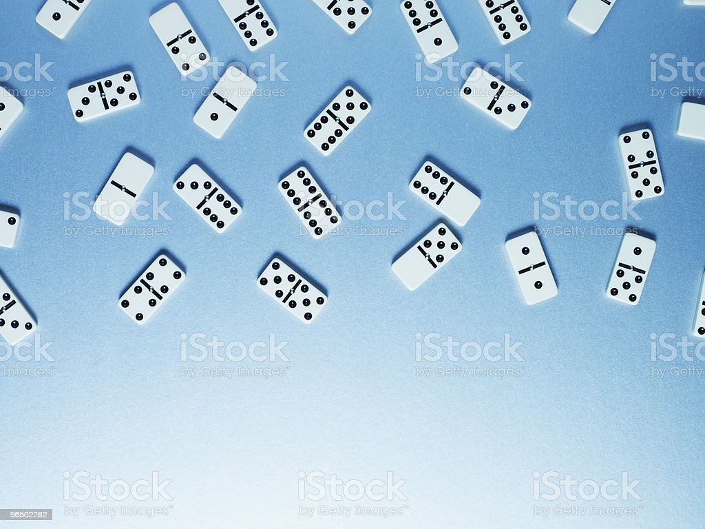 Directly above dominoes stock photo