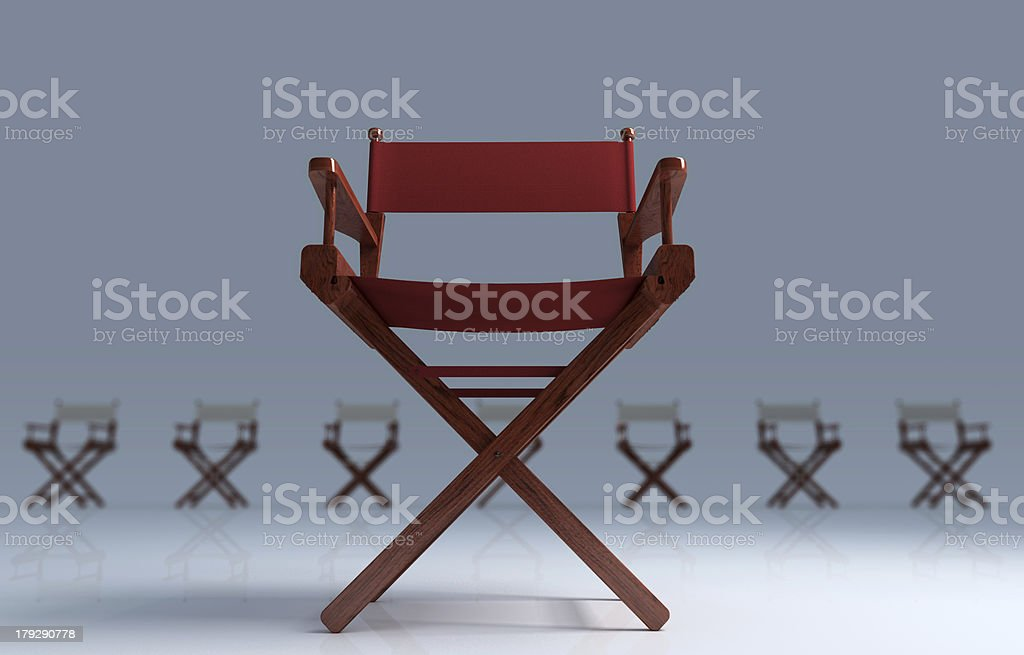 Director chair stock photo