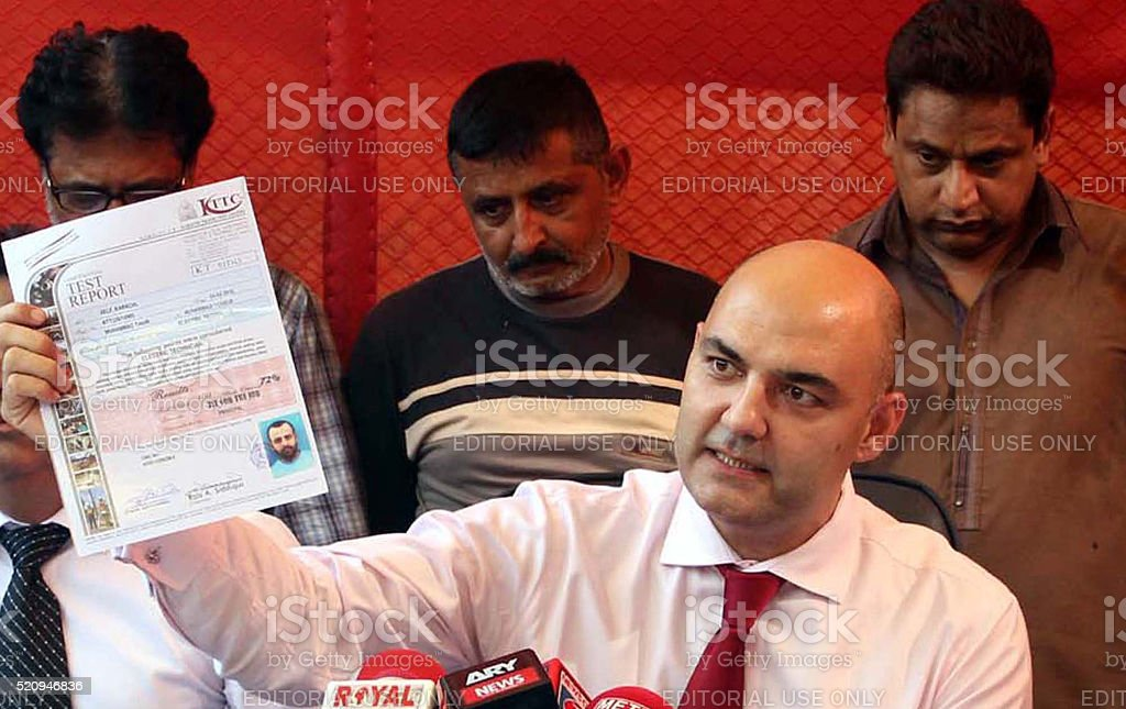 Director FIA holding a press conference stock photo
