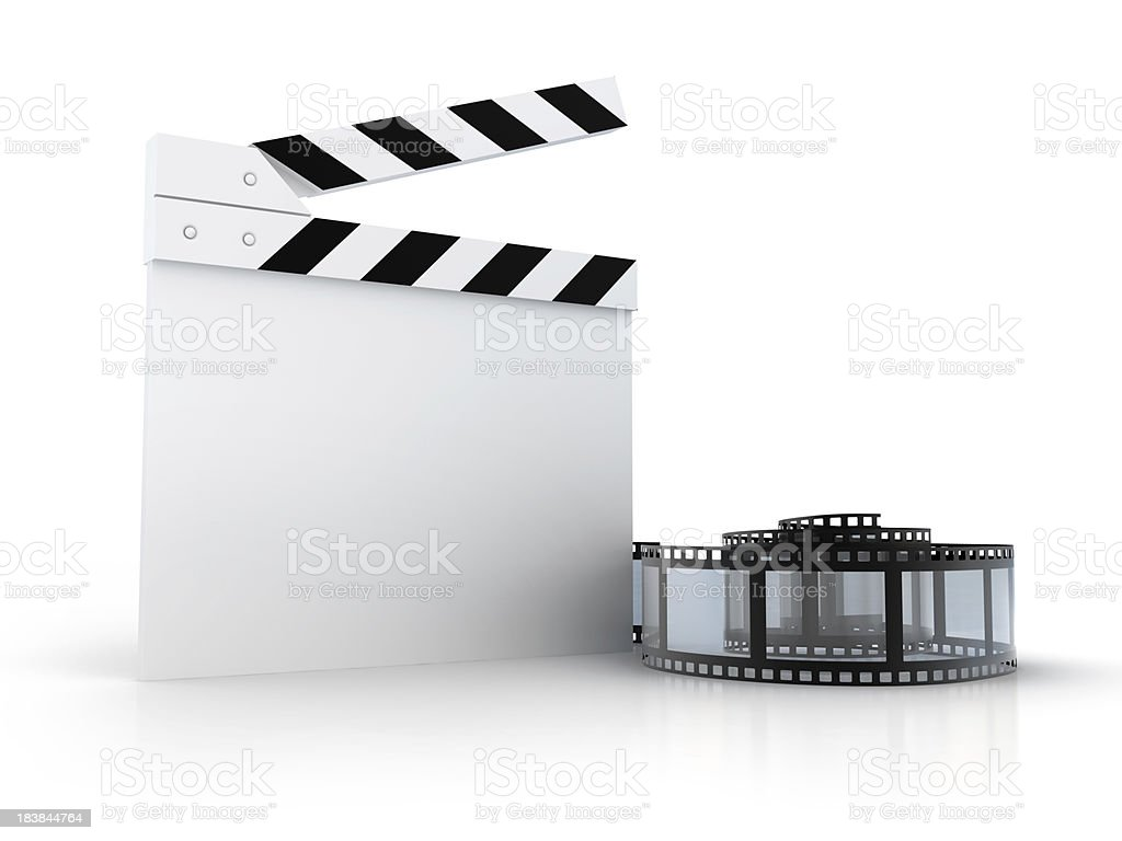Director slate with spiral Film royalty-free stock photo