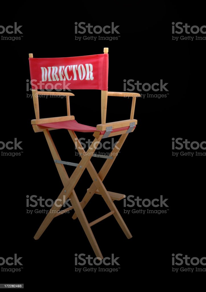 Director's Chair royalty-free stock photo