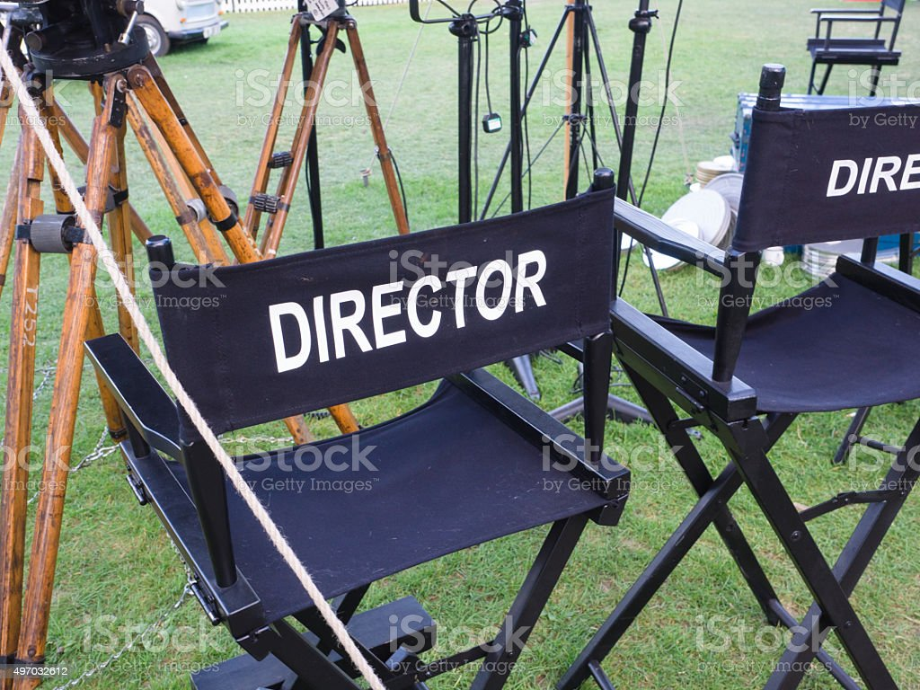 Directors Chair stock photo