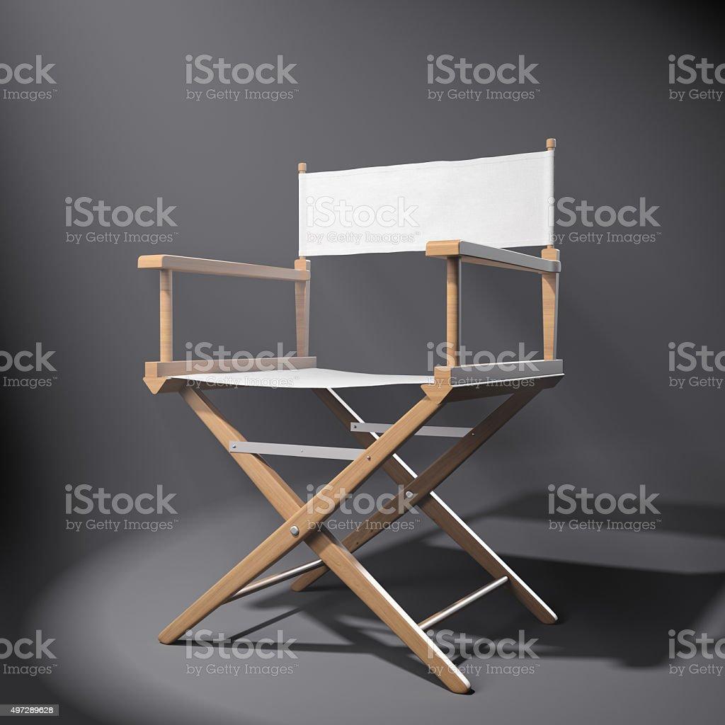 Director\'s chair under the spot light.