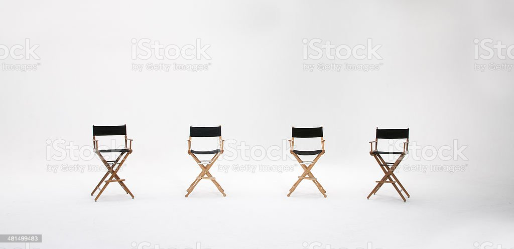 Director\'s Chairs on seamless