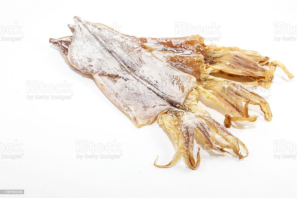 Dired squid stock photo