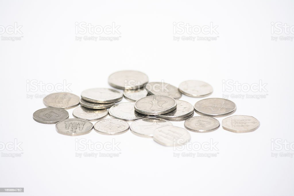 UAE Dirhams coins royalty-free stock photo