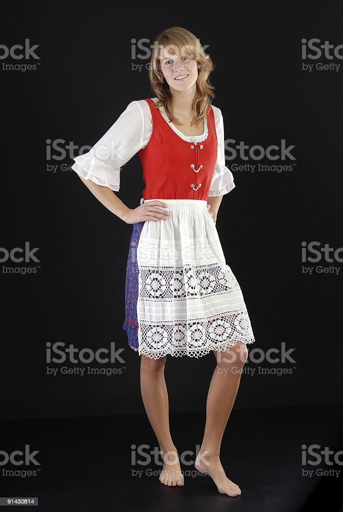 Dirndl girl royalty-free stock photo