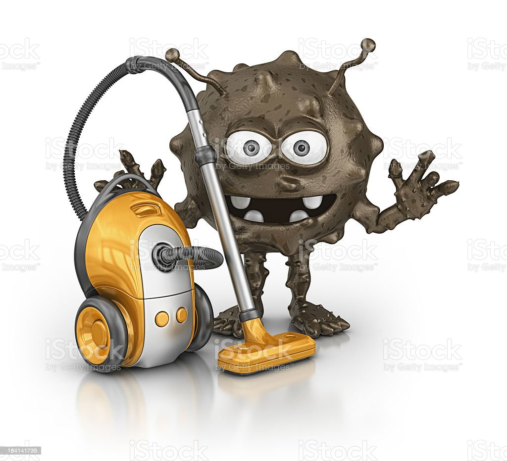 dirt and vacuum cleaner royalty-free stock photo