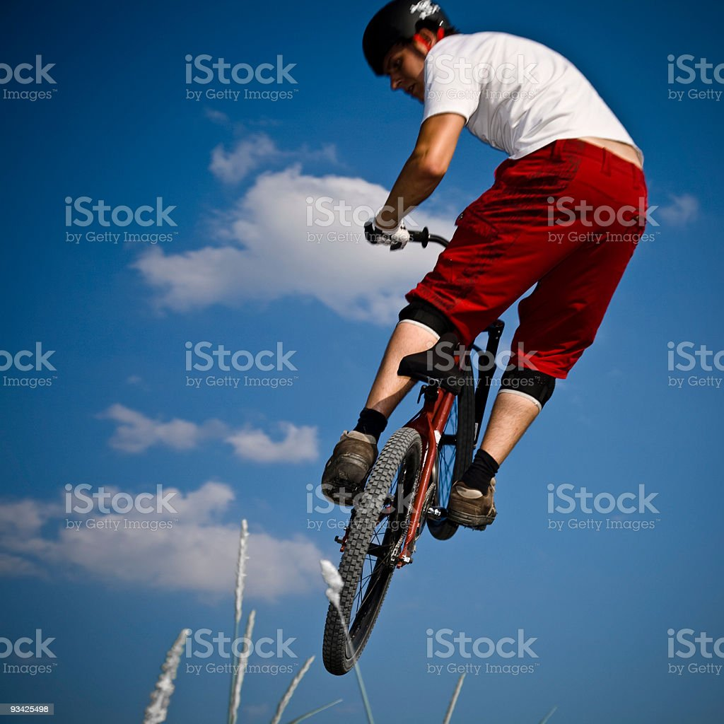 dirt bike jump royalty-free stock photo