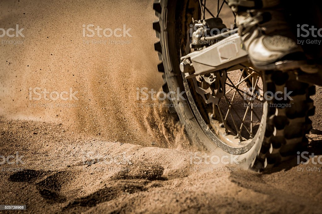 Dirt Bike on track stock photo