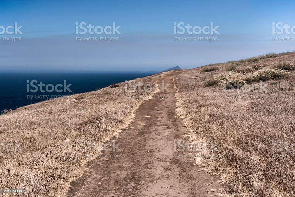 Dirt Hiking Path, Channel Islands National Park stock photo