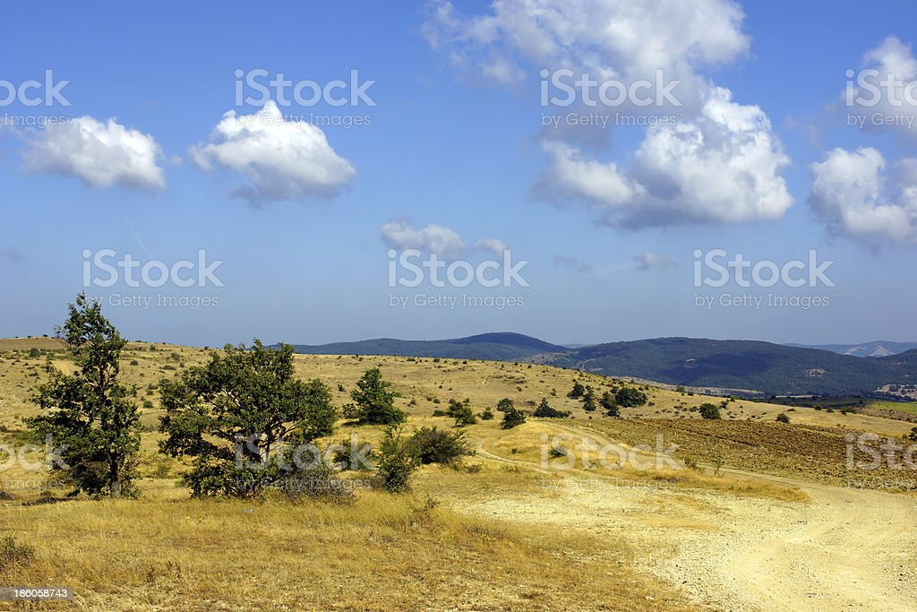 Dirt hill road. royalty-free stock photo
