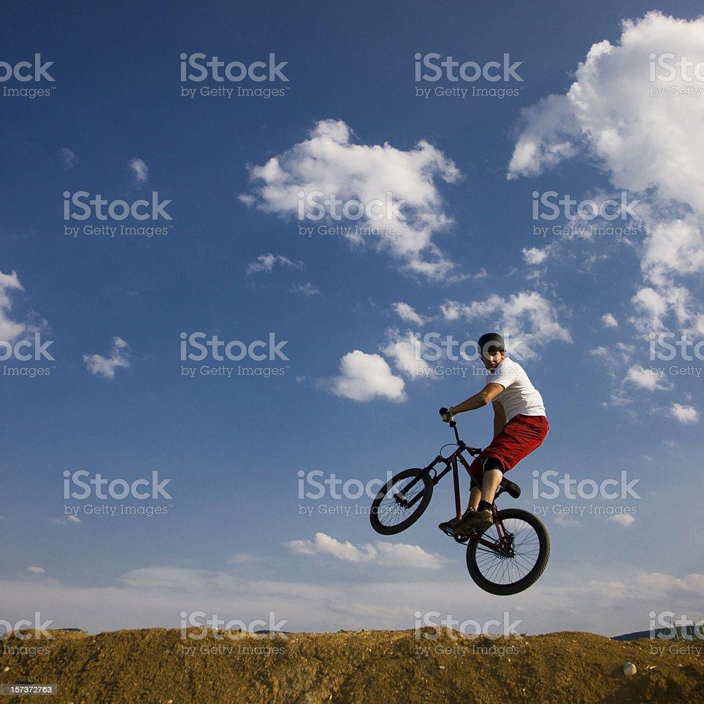 Dirt Jumping royalty-free stock photo