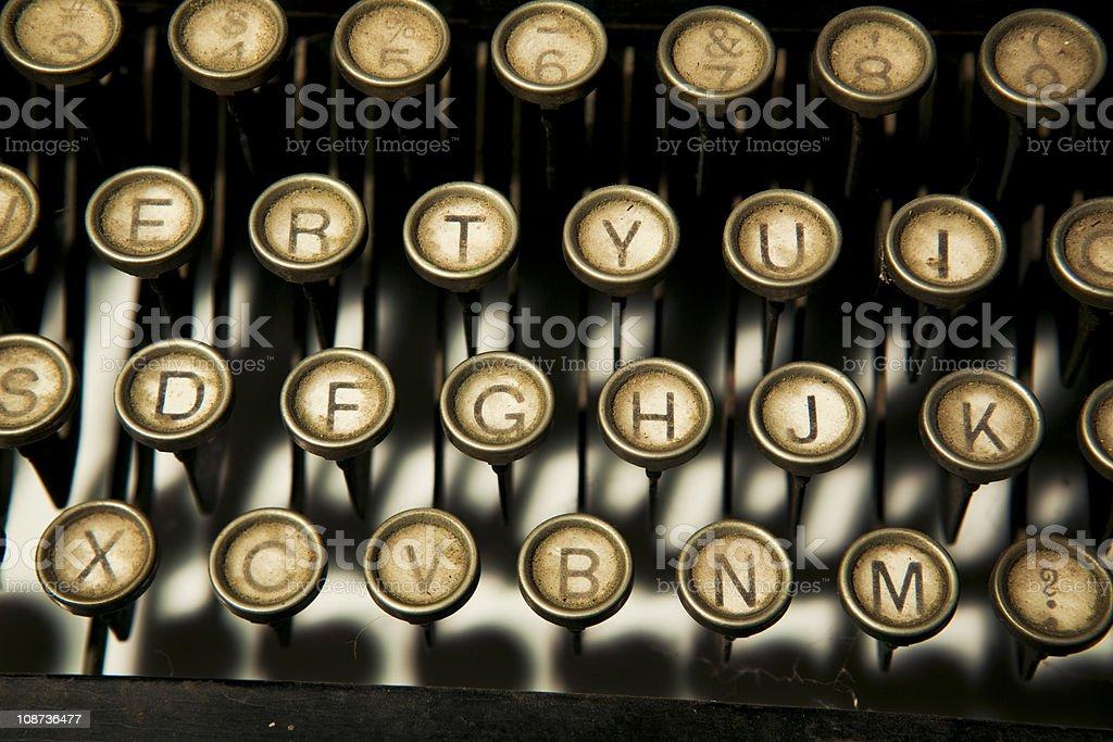 Dirt old typewriter keys stock photo