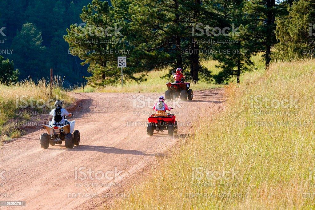 Dirt Riding Kids stock photo