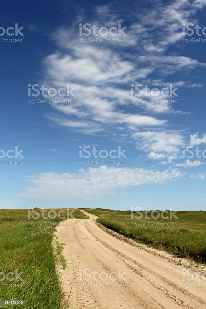 Dirt road and sky royalty-free stock photo