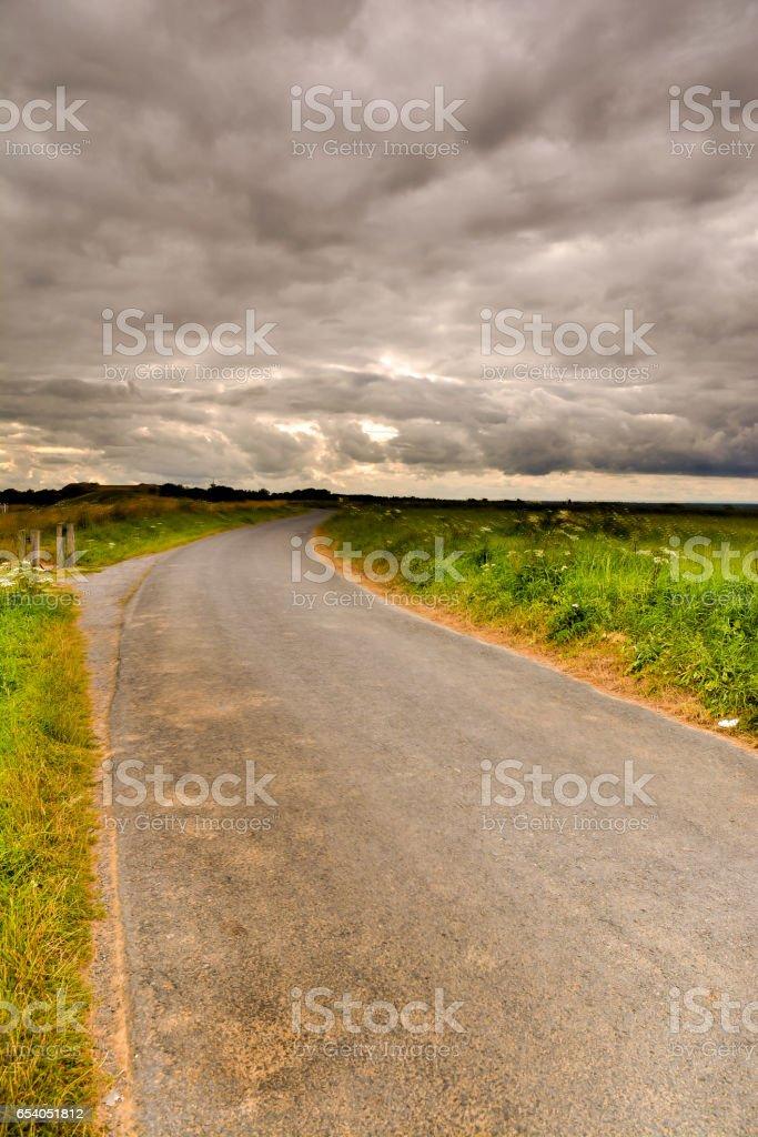 Dirt road desert stock photo