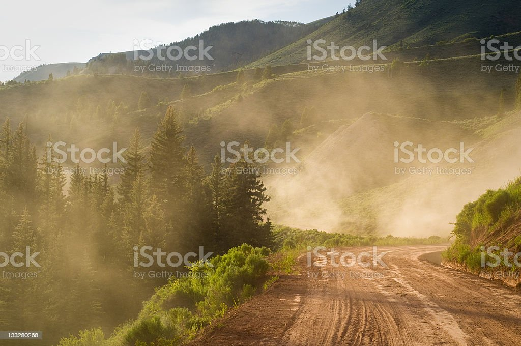 Dirt Road Dusted Real Good by a Redneck stock photo