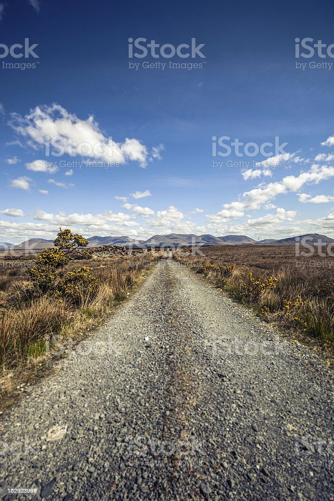 Dirt Road heading the Mountains royalty-free stock photo