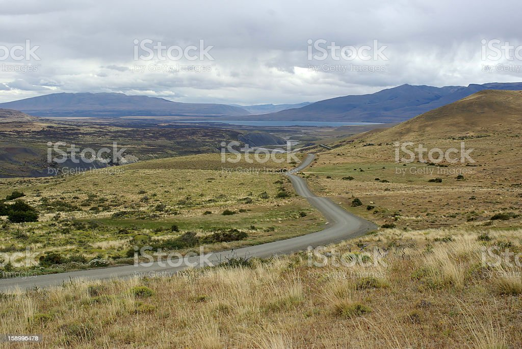 Dirt road in Chile royalty-free stock photo