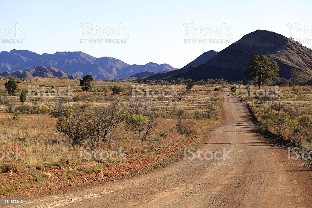 Dirt Road in the Flinders Ranges royalty-free stock photo