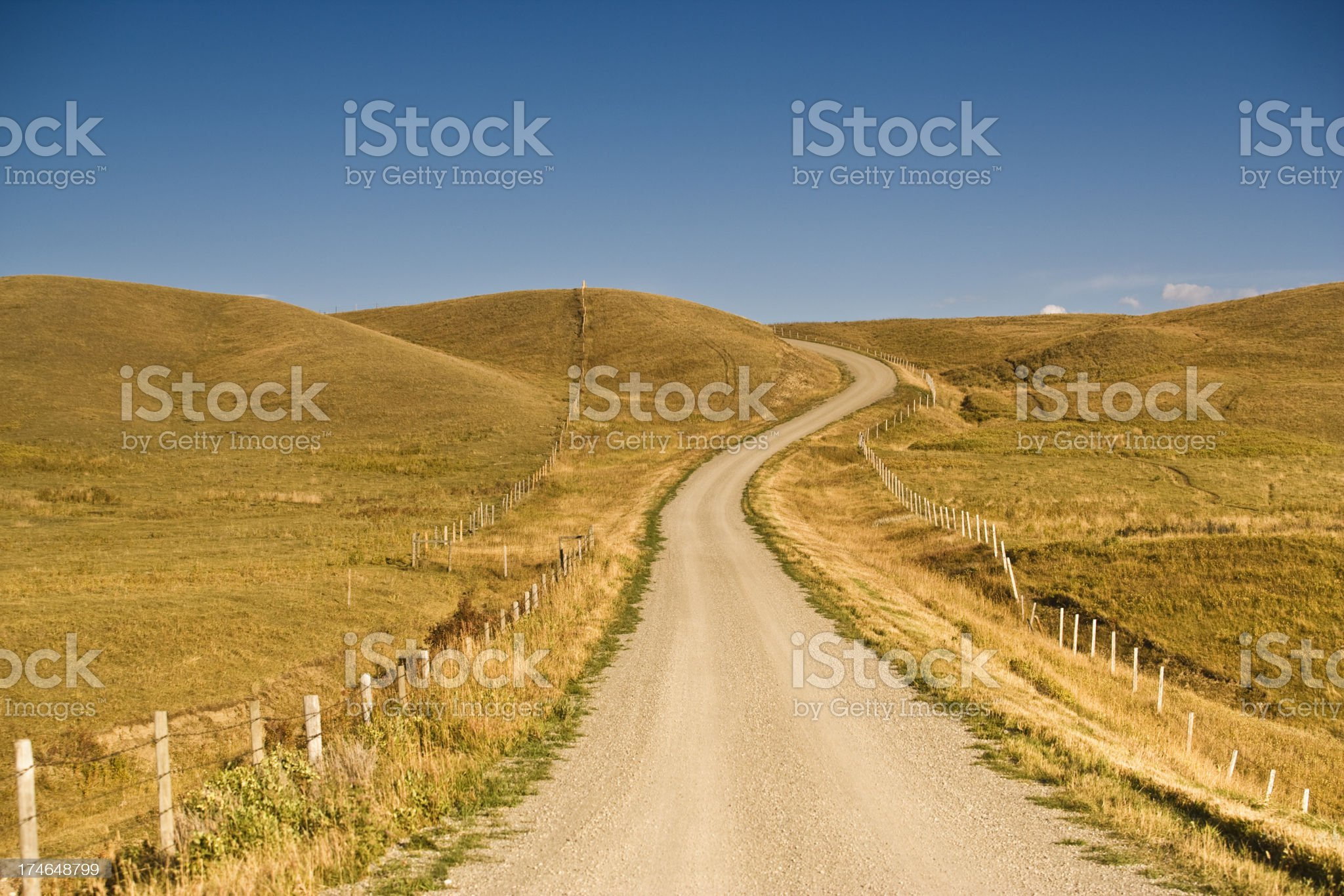 Dirt road on the farm royalty-free stock photo