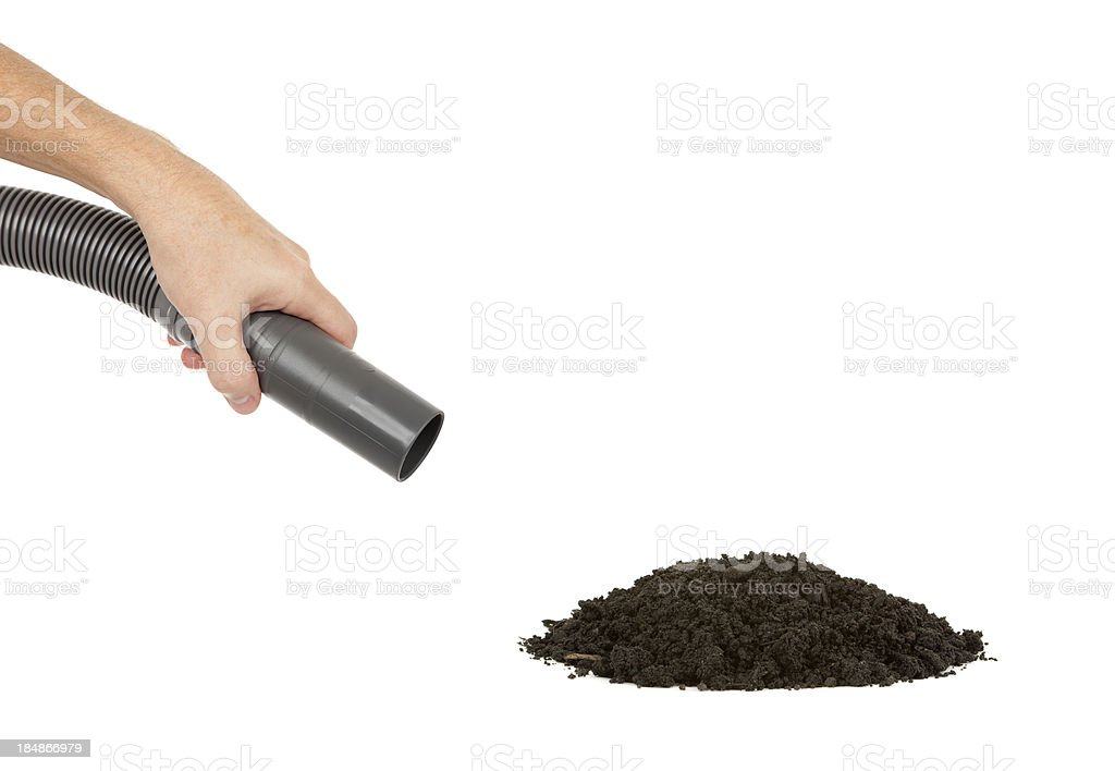 Dirt to Vacuum stock photo