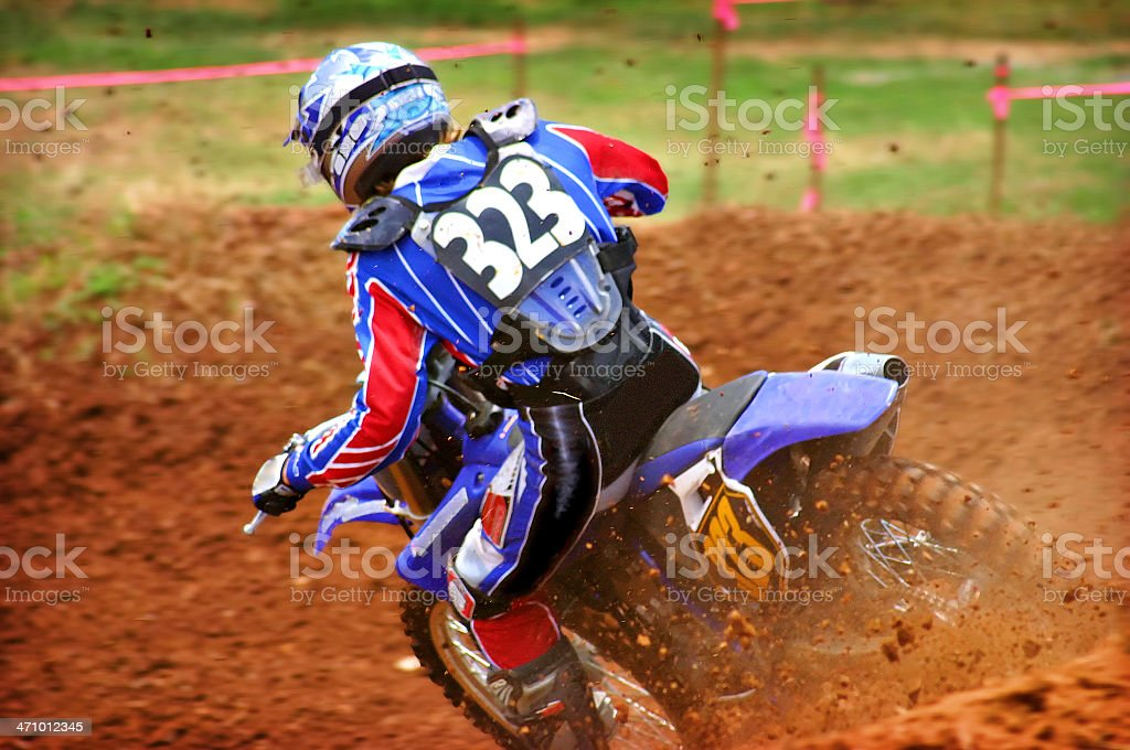 Dirtbike Action royalty-free stock photo