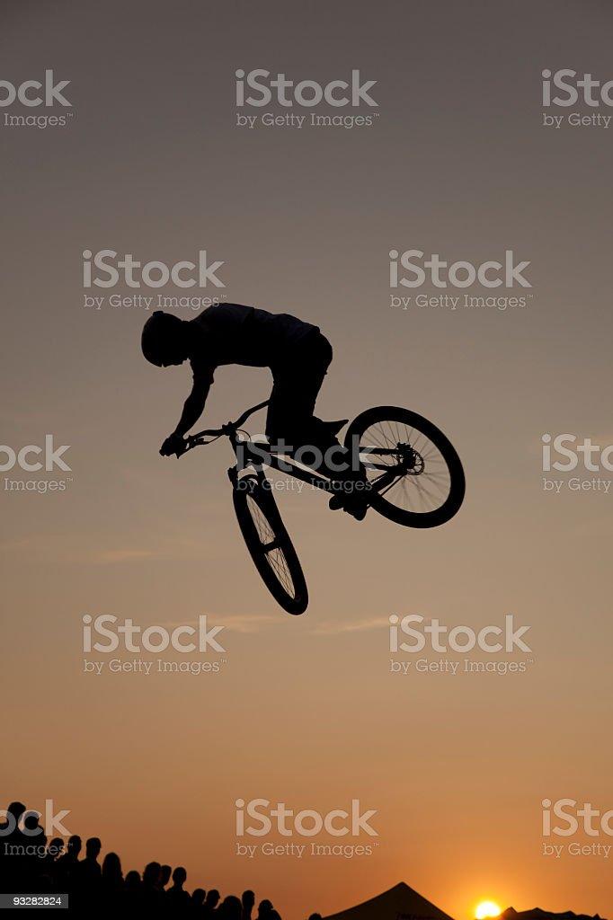 dirtbike bmx silhouette royalty-free stock photo