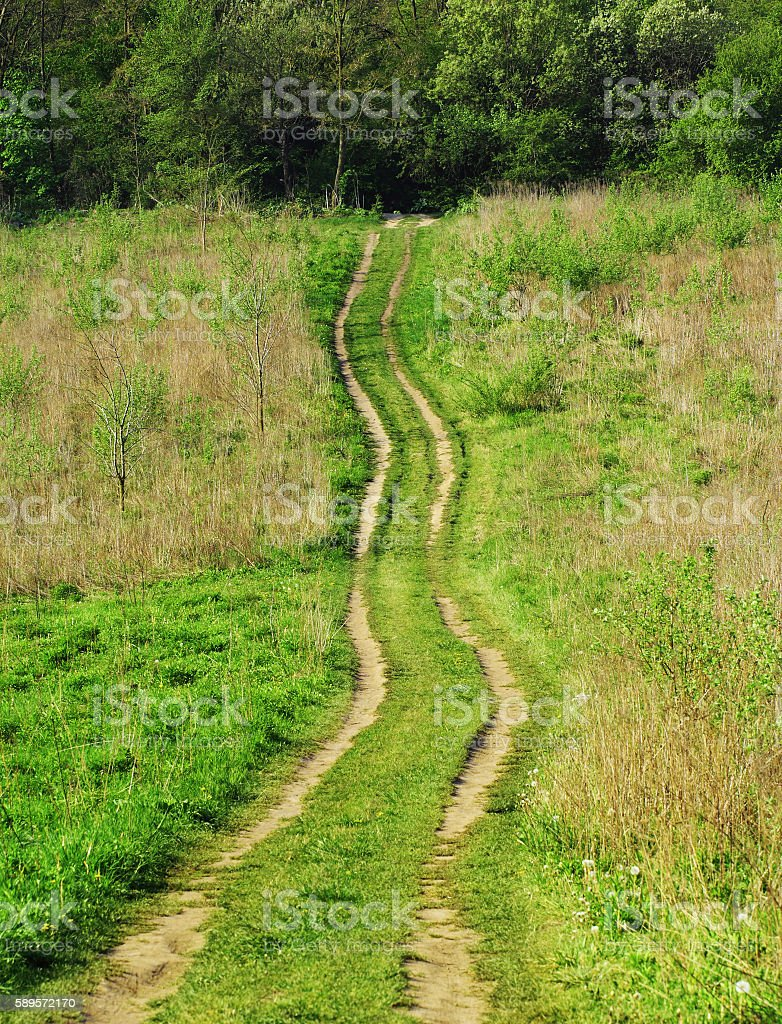 Dirtroad stock photo