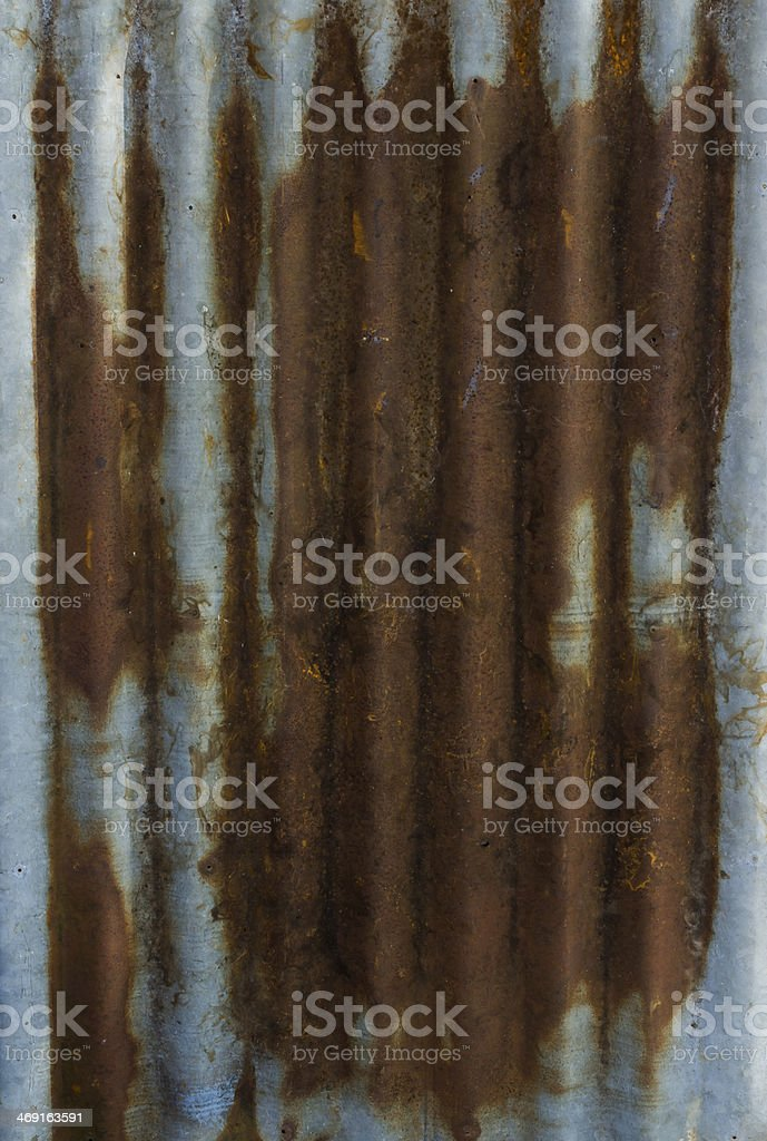 dirty and rusty color zinc plate wall for background royalty-free stock photo