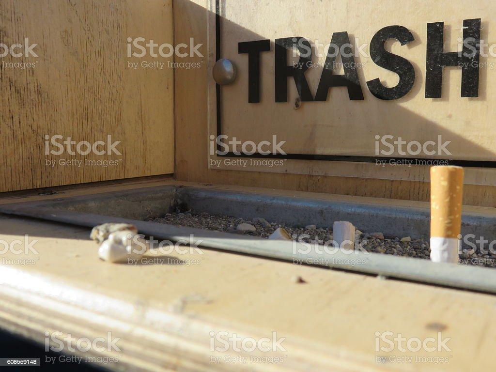 Dirty Ashtray stock photo