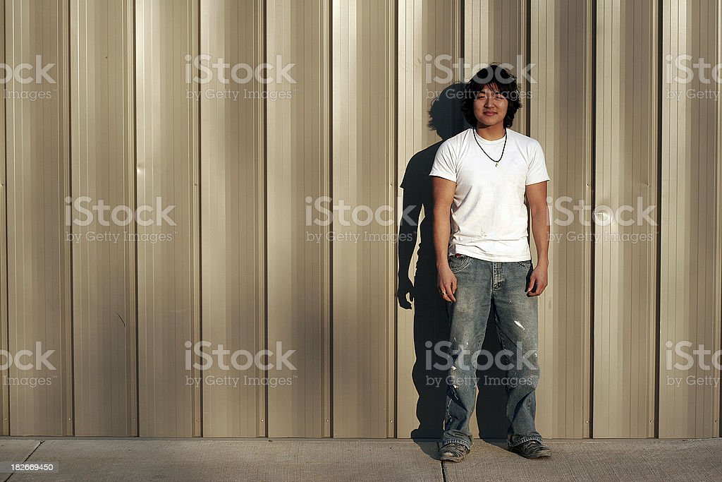 Dirty Asian Worker royalty-free stock photo