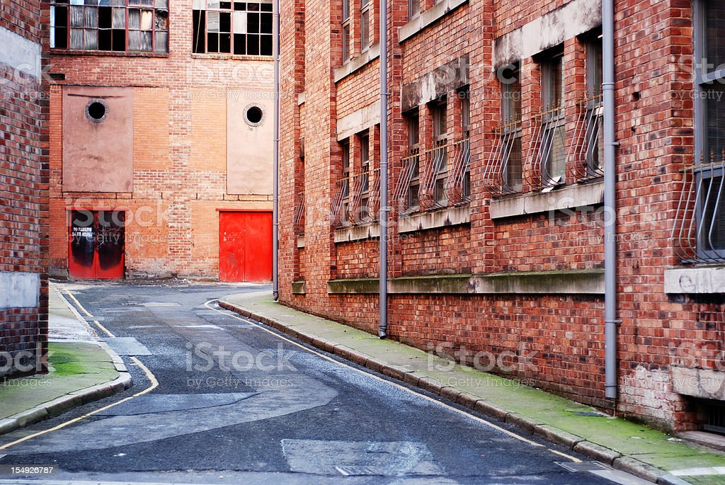 Dirty backstreet royalty-free stock photo