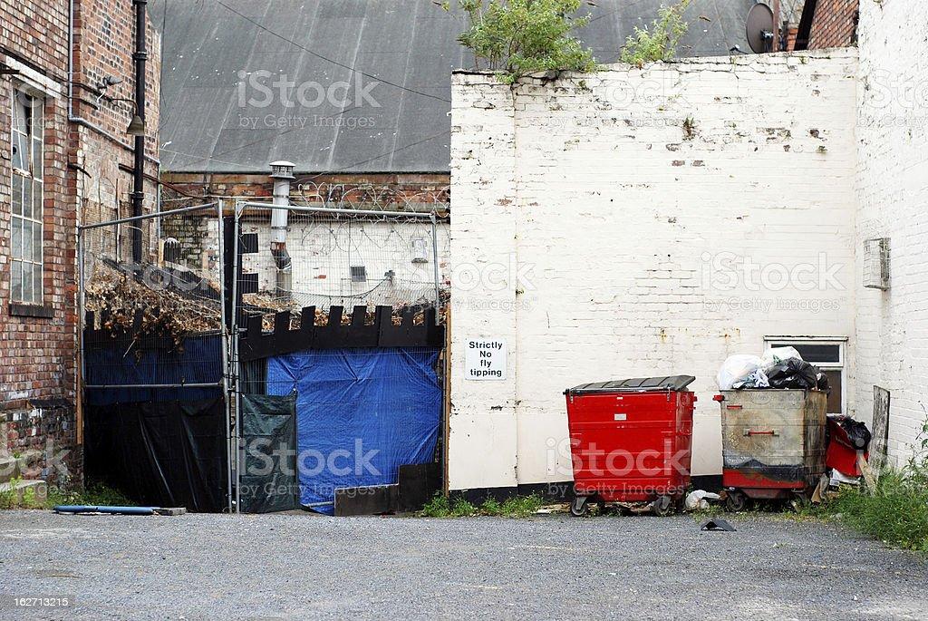 Dirty backstreet royalty-free stock photo