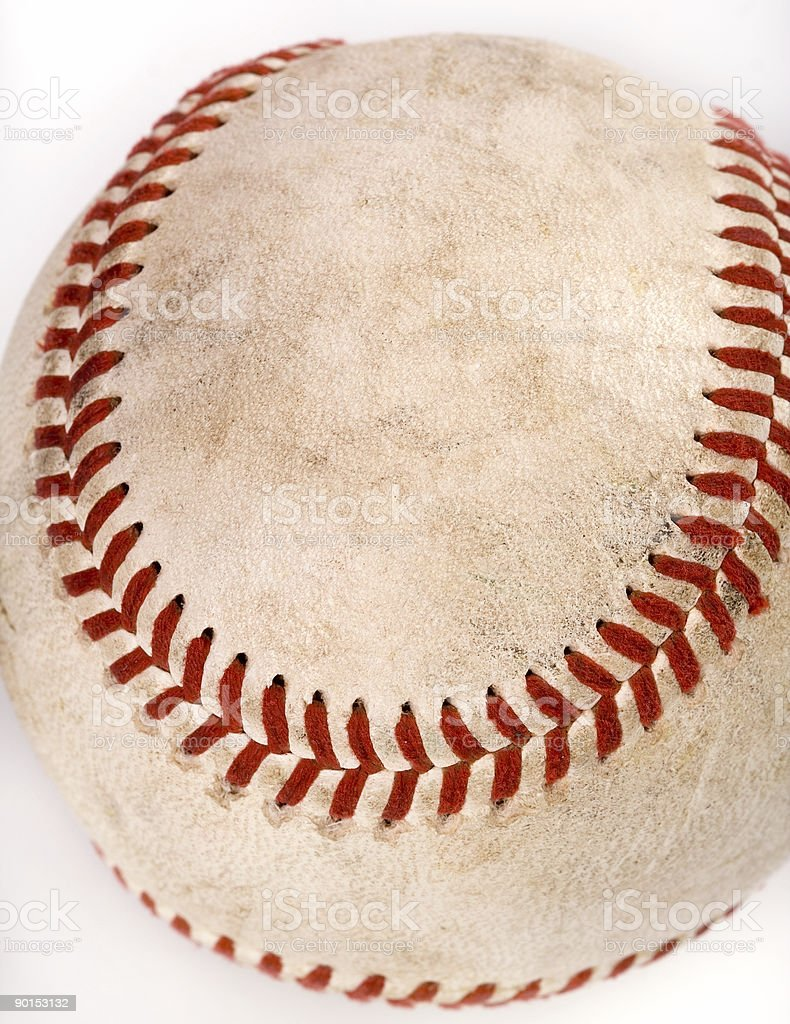 Dirty Baseball 2 stock photo