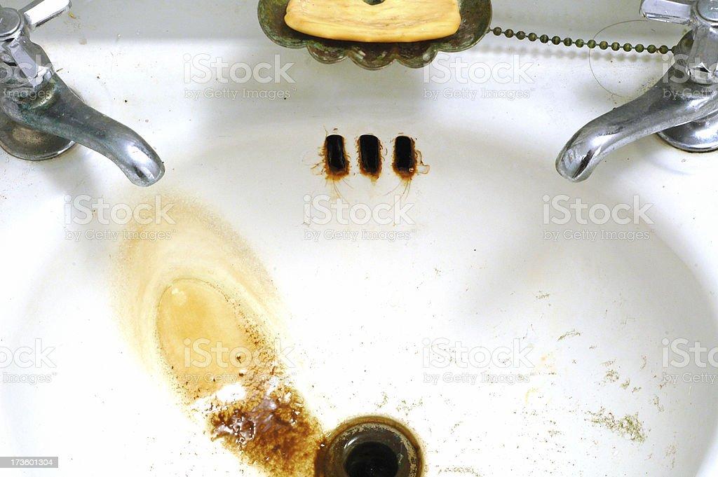 Dirty Bathroom Sink royalty-free stock photo