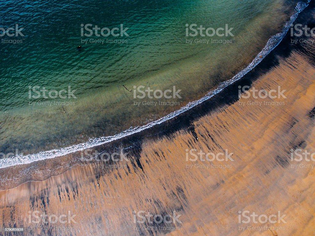 Dirty beach stock photo