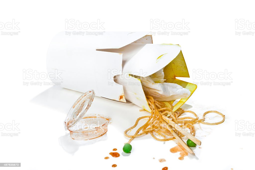 Dirty blank boxes stock photo