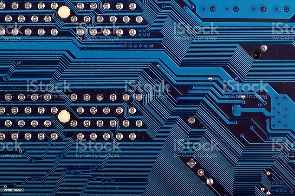 Dirty Blue Circuit stock photo