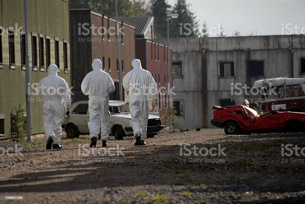 Dirty bomb stock photo