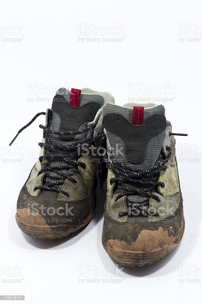 dirty boots royalty-free stock photo