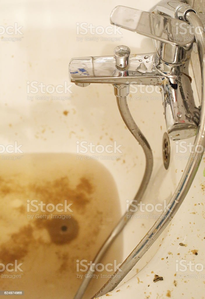 Dirty brown water stock photo